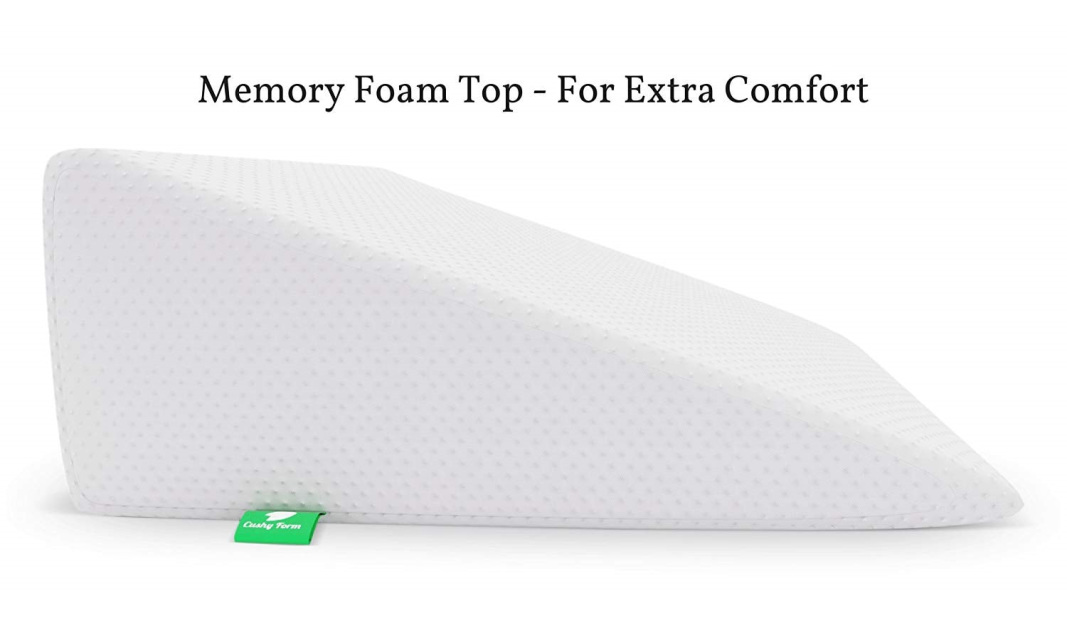 7 5 Inch Bed Wedge Pillow With Memory Foam Top By Cushy Form